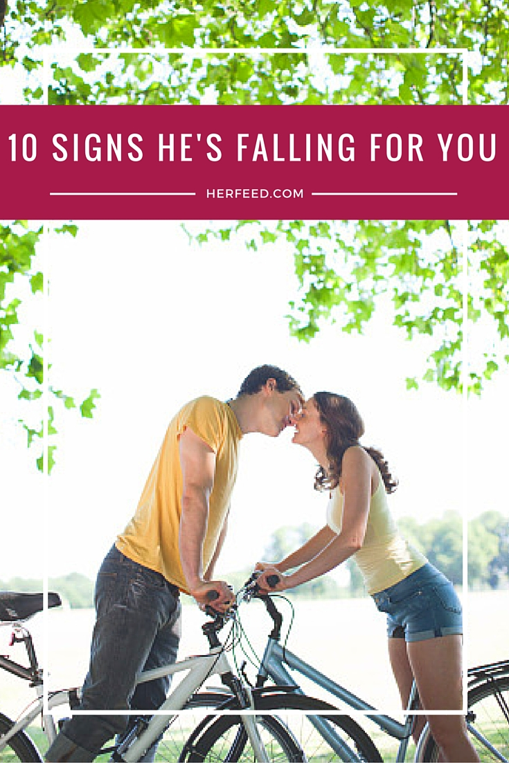 10 little signs he's falling for you