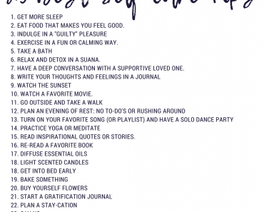 25 Best Self-Care Tips