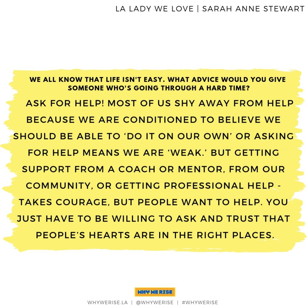 LA Lady We Love - Sarah Anne Stewart