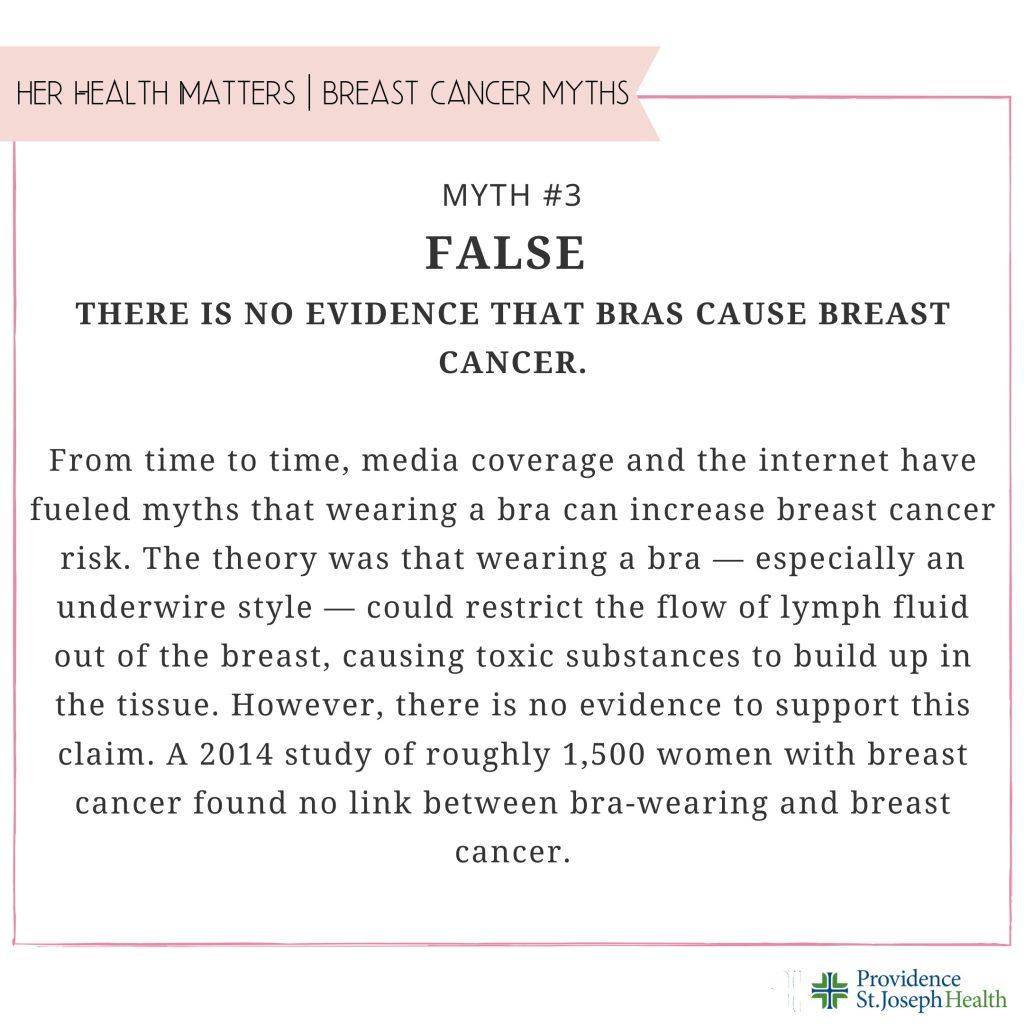 Breast Cancer Myth #3 Fact