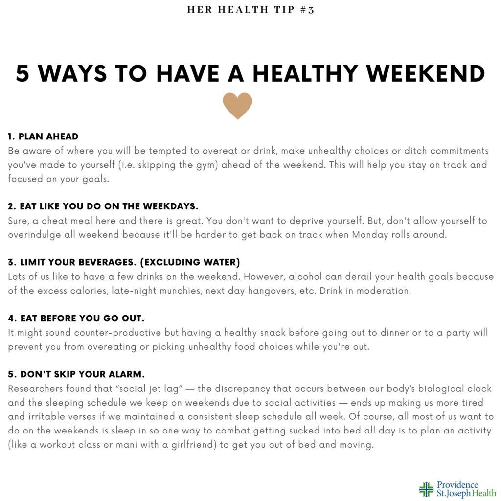 healthy weekend